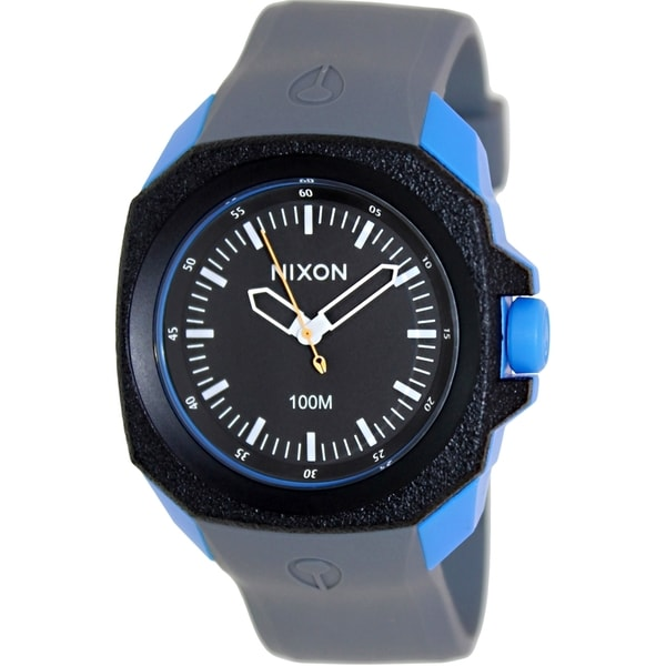 Nixon Men's Ruckus A3491537 Grey Silicone Quartz Watch