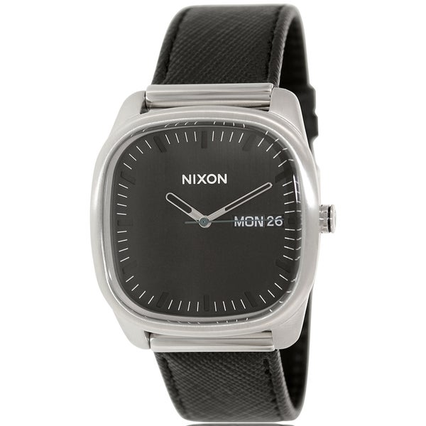 Nixon Men's Identity A268000 Black Leather Quartz Watch