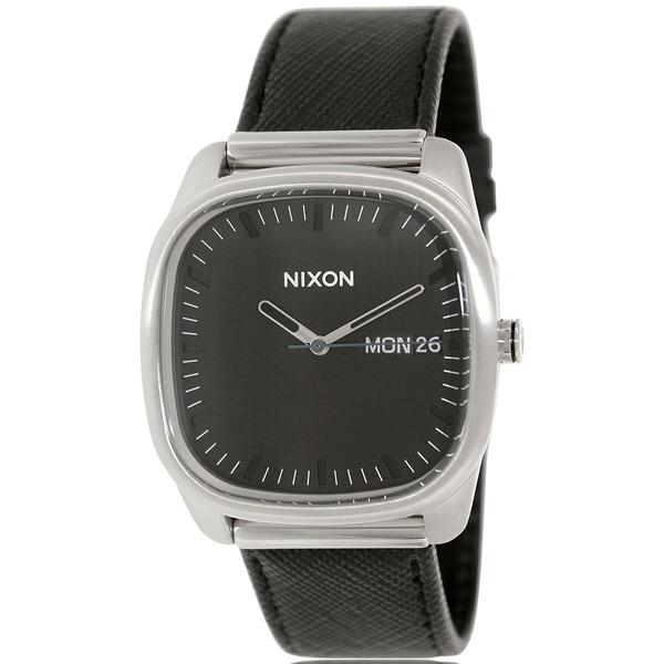 Nixon Men's Identity A268000 Black Leather Quartz Watch