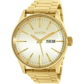 Nixon Men's Sentry Ss A356502 Goldtone Stainless Steel Quartz Watch