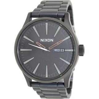 Nixon Men's Sentry Ss A3561530 Black Stainless Steel Quartz Watch