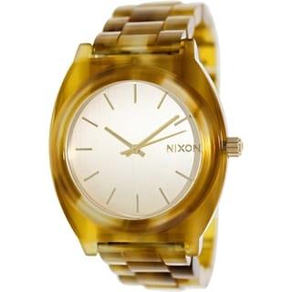 Nixon Women's Time Teller A3271423 Goldtone Plastic Quartz Watch