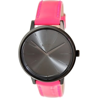 Nixon Women's Kensington A1081394 Pink Leather Quartz Watch