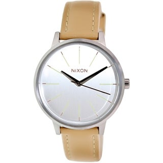 Nixon Women's Kensington A1081603 Beige Leather Quartz Watch