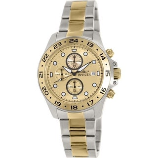 Invicta Men's Pro Diver 15207 Two-tone Stainless Steel Swiss Chronograph Watch