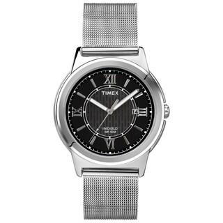 Timex Men's T2P5199J Main Street Dress Silvertone Mesh Bracelet Watch