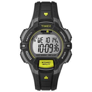 Timex Women's T5K8099J Ironman Rugged Black/ Lime Watch
