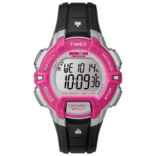 Timex Women's T5K8119J Ironman Rugged Black/ Pink Watch
