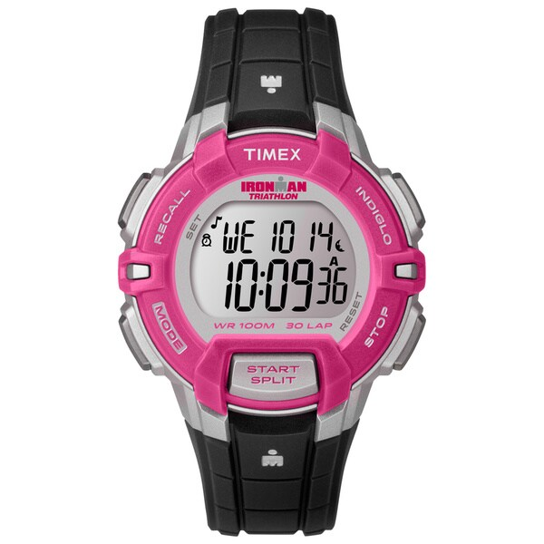 Timex Women's T5K8119J Ironman Rugged Black/ Pink Watch