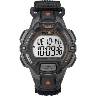 Timex Men's T5K8349J Ironman Rugged Black/ Orange Watch