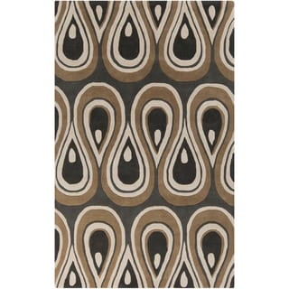 Hand-tufted Lalaine Abstract New Zealand Wool Area Rug (3'3 x 5'3)