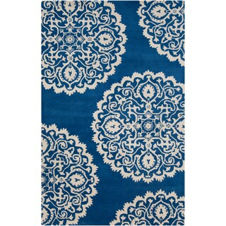 Hand-tufted Byron Transitional Medallion Wool Area Rug (3'3 x 5'3)