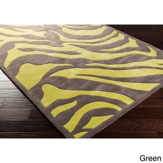 Hand-tufted Danielle Zebra New Zealand Wool Area Rug (9' x 13')