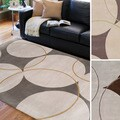 Hand-tufted Allison Contemporary Geometric Wool Area Rug (5' x 8')