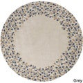 Hand-tufted Rome Floral Border Round Wool Area Rug (8' Round)