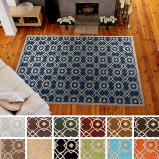 Hand-tufted Karen Contemporary Geometric Wool Area Rug (2' x 3')