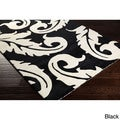 Hand-tufted Sean Classic Damask New Zealand Wool Area Rug (2' x 3')