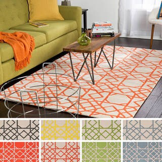 Hand-tufted Carly Transitional Geometric Wool Area Rug (3'3 x 5'3)