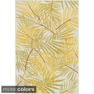 Indoor/ Outdoor Palm Rug (5'2 x 7'5)