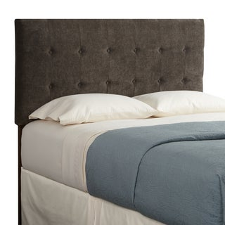 Humble + Haute Sussex Velvet Brown Queen Tufted Upholstered Headboard
