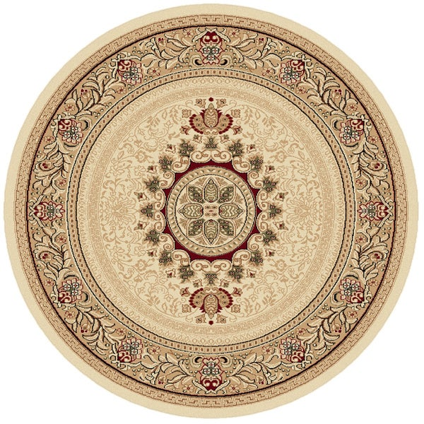Soho 4672 Beige Traditional Area Rug (7'10 Round)