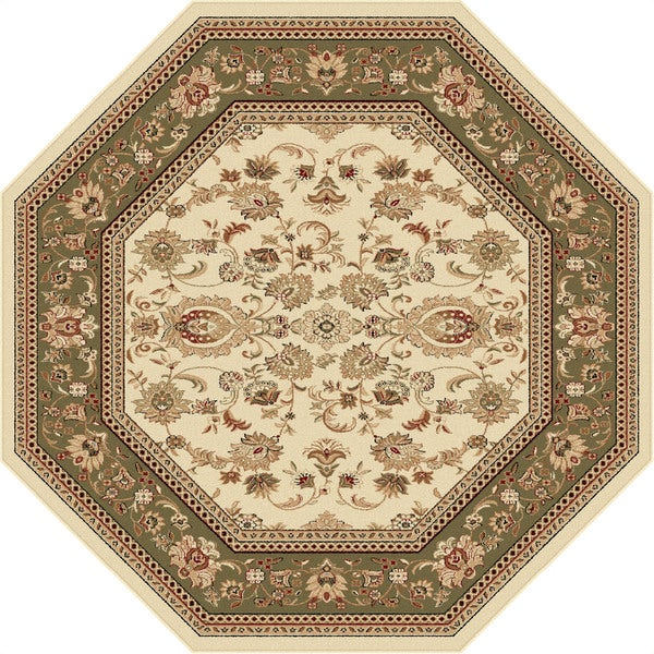 Alise Soho Beige Traditional Area Rug (5'3 Octagon)