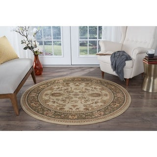 Soho 4722 Beige Traditional Area Rug (5'3 Round)