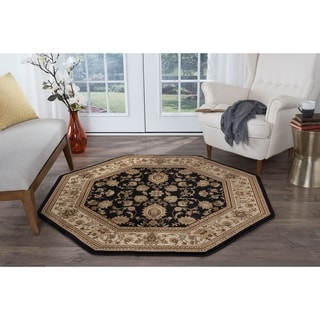 Soho 4723 Black Traditional Area Rug (7'10 Octagon)