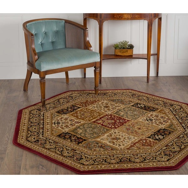 Soho 4770 Red Traditional Area Rug (5'3 Octagon)