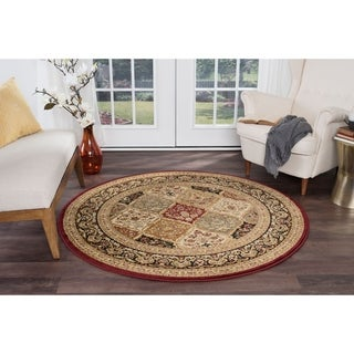 Sensation 4770 Red Round Traditional Area Rug (5'3)