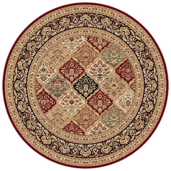 Soho 4770 Red Traditional Area Rug (7'10 Round)