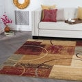 Rhythm 5430 Multi Contemporary Area Rug (5' x 7')