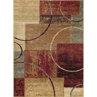 Rhythm 5430 Multi Contemporary Area Rug (7'6 x 9'10)