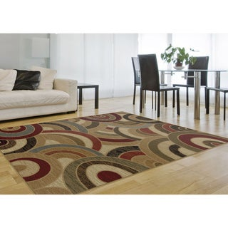 Flora 8950 Multi Contemporary Area Rug (7'10 x 10'3)