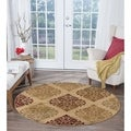 Alise Infinity Beige Round Transitional Area Rug (5'3 Round)