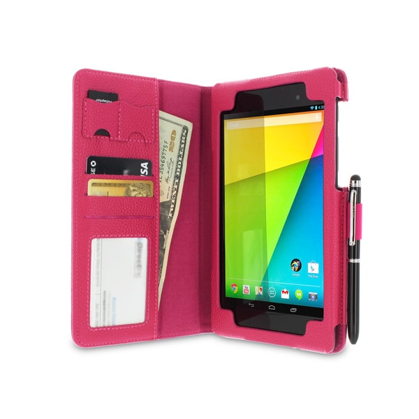 rooCASE Dual Station Folio Case Cover for Google Nexus 7 FHD with Stylus (2nd Generation)