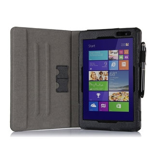 rooCASE Black Dual View Folio Case Cover with Stylus for Dell Venue 8 Pro Windows 8.1 Tablet