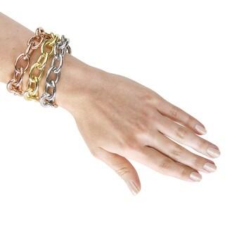 Eternally Haute Stainless Steel Chunky Rolo Bracelet
