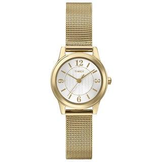Timex Women's T2P4589J Main Street Modern Mini Goldtone Mesh Watch