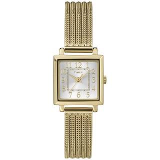 Timex Women's T2P4409J Main Street Modern Mini Goldtone Mesh Watch