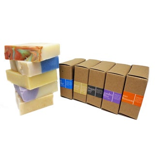 Luxury Lathers Handmade 4-ounce Soap Bars (Pack of 5)