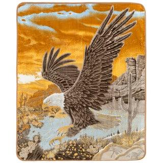 Clara Clark Eagle Print Animal Blanket