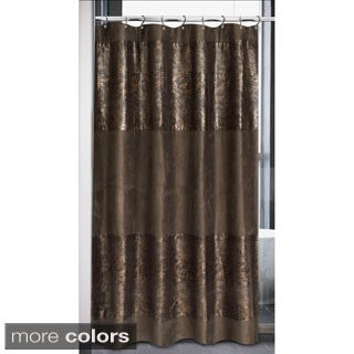 Faux Suede Cobra Design Shower Curtain