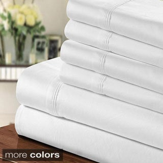1000 Thread Count Egyptian Cotton-blend 6-piece Sheet Set