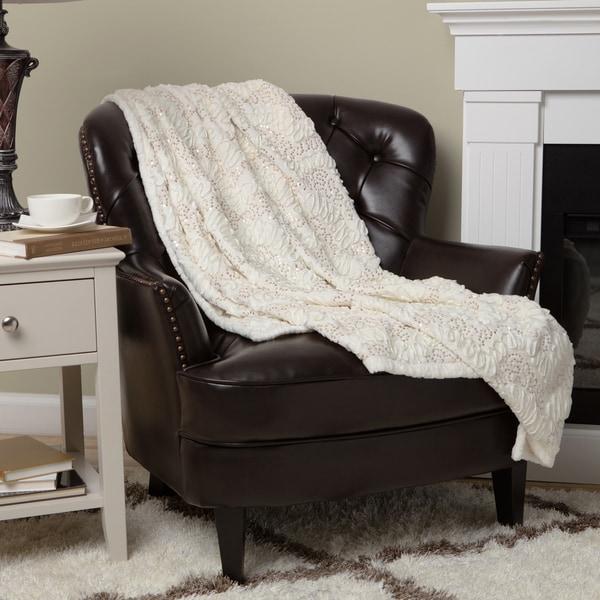Lush Decor Giselle Sequinned Zig-zag Throw Blanket