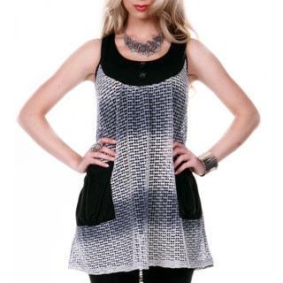 Firmiana Women's Sleeveless Mesh Pattern Tunic