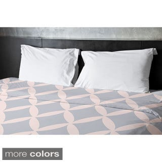 Shell and Bisque Geometric Duvet Cover