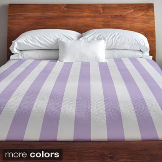 88 x 88-inch Two-tone Stripe Duvet Cover