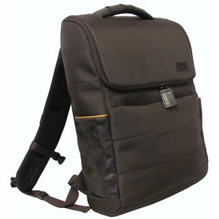 Amerileather Smart 17-inch Leather-trim Laptop Backpack