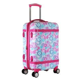 JWorld Taqoo 20-inch Hardside Carry On Spinner Upright Suitcase